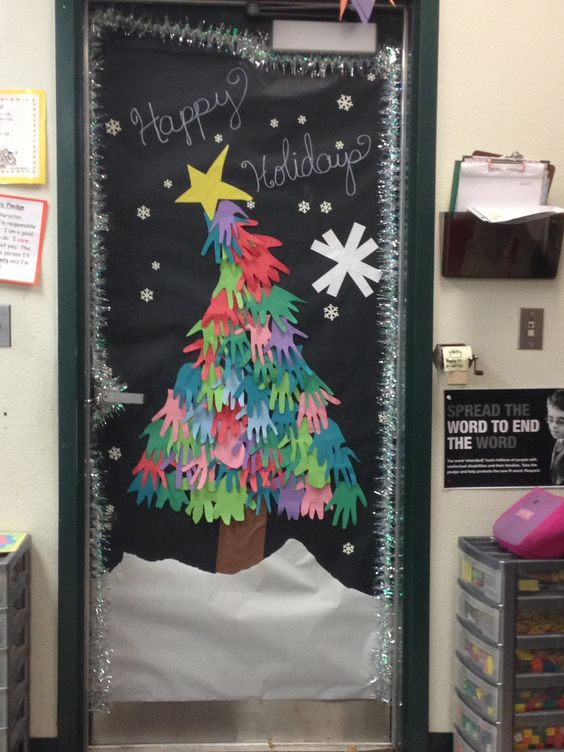 Classroom Door Decoration Ideas For January ~ Door decoration for my daughter s second grade classroom