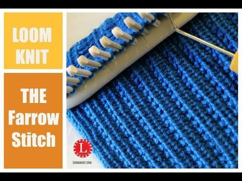Knit And Purl Stitch On Loom : Loom Knitting - The Farrow Rib Stitch Breiring, bloemenring (loomknitting) ...