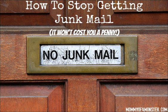 how to stop getting junk mail you can thank me later trees weeding and junk mail. Black Bedroom Furniture Sets. Home Design Ideas