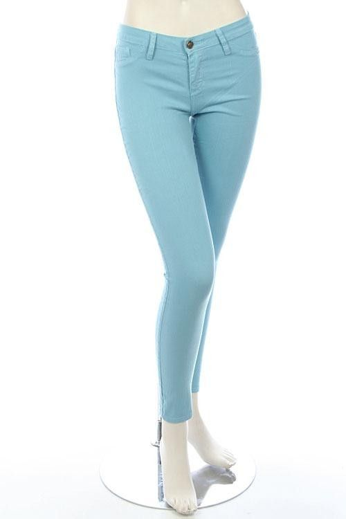 LOVELY PASTEL COLORED SKINNY JEANS | Love it: Color Pop ...