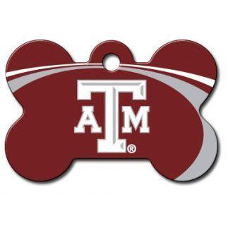 Texas A&M Aggies NCAA Custom Engraved Dog ID Tag - Bone