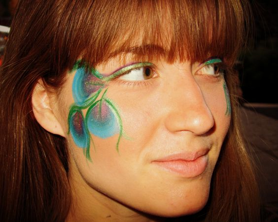 face paint peacock