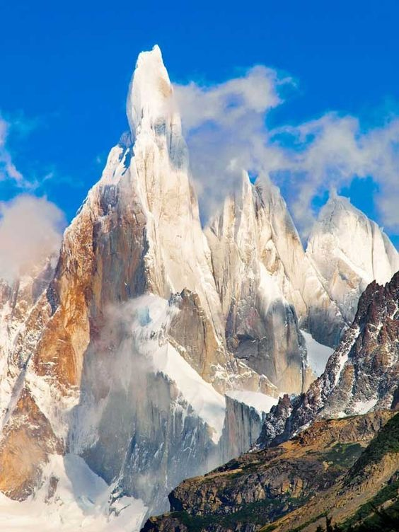 Cerro Torre -  It is located in a region which is disputed between Argentina and Chile, west of Cerro Chalten
