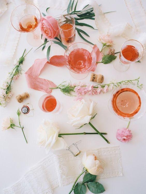 A Rosé + Flower Arranging Party