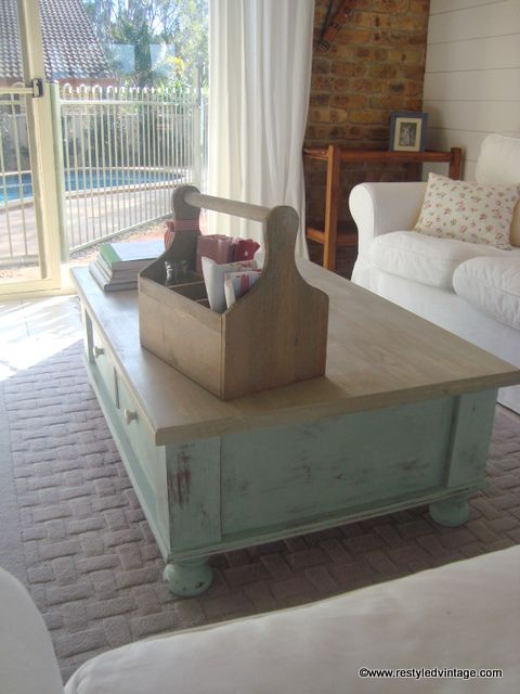 Restyled Vintage Coastal Coffee Table Coastal Living Pinterest Vintage Coffee Tables