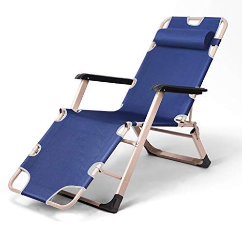Zcxbhd Folding Sun Lounger Foldable Deck Chair Reclining Garden Chair Leg Rest Reclining Back Headrest Color Beach Chairs Beach Chairs Portable Deck Chairs