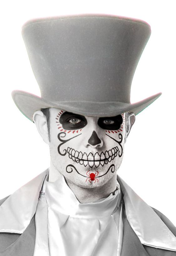 Maquillaje Halloween, Disfraz De Catrin Niño, Calavera Maquillaje Hombre, Maquillaje Bu, Maquillaje De Catrin Hombre, Maquillaje Catrina Mexicana,