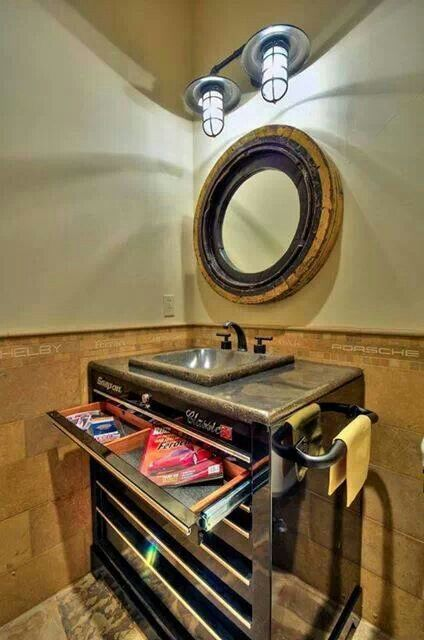 Daily man up 27 photos home caves and home decor for Man cave bathroom sink