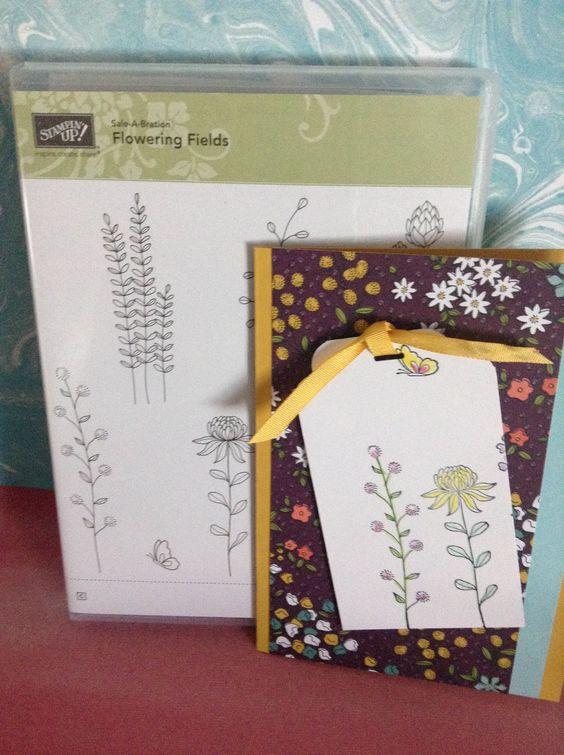Heutehabeich eine Karte mit dem SAB Stempelset Flowering Fields und dem SAB DSP Wildblumenwiese. Das das Etikett habe ich mit der Trio-Stanze Elegante Ecken gemacht. Eine vielseitige Stanze mit 3...
