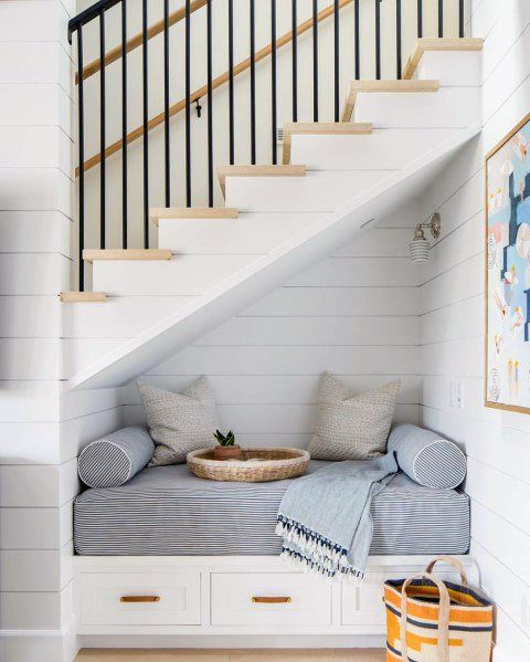 Top 70 Best Under Stairs Ideas Storage Designs Under Stairs Nook Stair Nook Home Decor