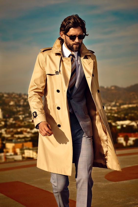 Speaking in a subtle and polished way, the #Burberry trench #coat is just what you need to stay handsome in poor weather.