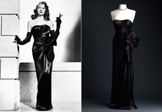 """O tomara-que-caia preto que vestiu Rita Hayworth em """"Gilda""""."""