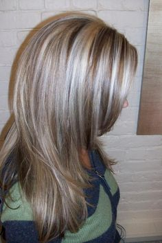 silvery gray highlights (to work with my already gray) …
