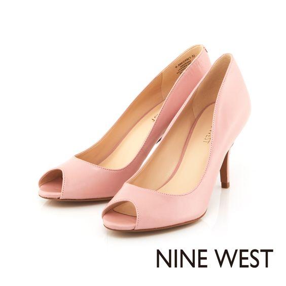 NINE WEST 柔美粉色系當道 完美切割弧線中低跟魚口鞋-氣質粉 - Yahoo!奇摩購物中心