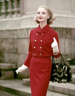 1956 - Fashionable lady