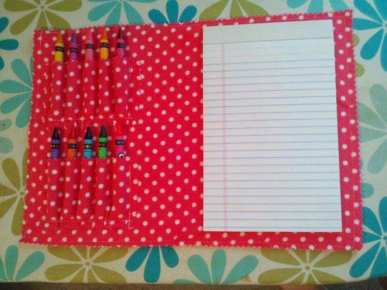 Hot Pink Polka Dot Travel Coloring Kit by MandEmDesign on Etsy ...