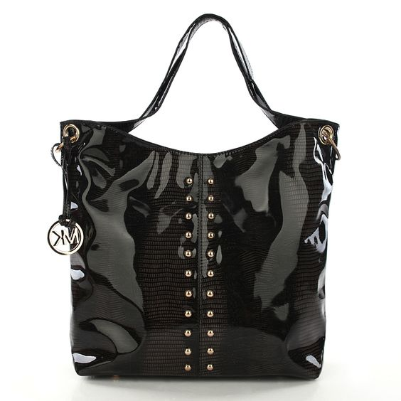 Michael Kors Outlet Stud Large Black Shoulder Bags -Michael Kors factory  outlet online sale now