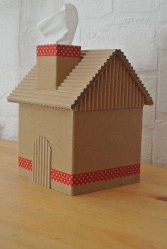 boite maison objets en carton ondul pinterest. Black Bedroom Furniture Sets. Home Design Ideas