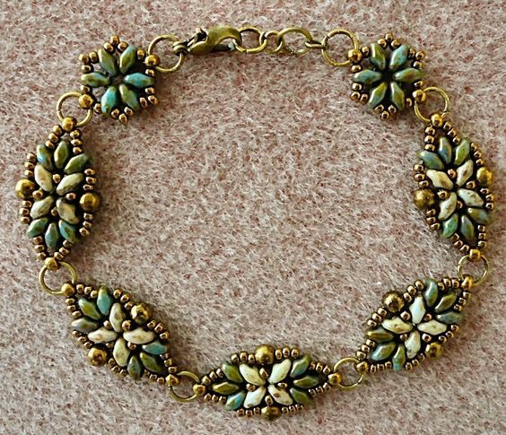 Linda's Crafty Inspirations: variations on a theme.  How she changed a basic pattern for fit and center motif.  Link to schema.  #Seed #Bead #Tutorials