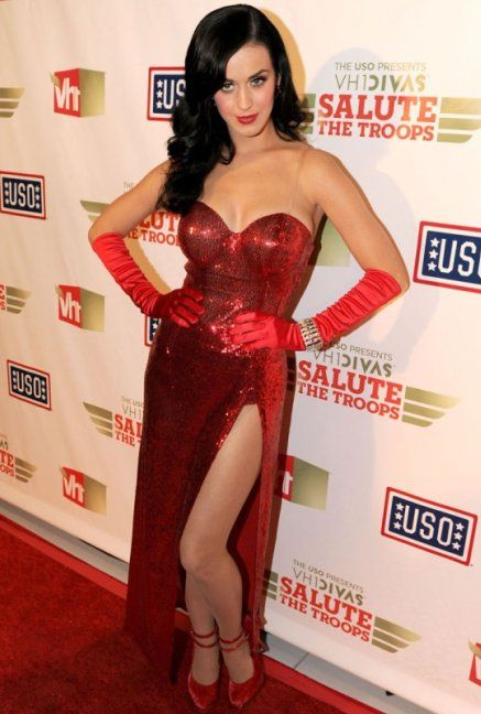 Katy perry red floral dress - Best dress image