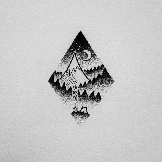 This would make a great tattoo. Once again it doesn't have to be done in black. Another, softer, color would work really well. A doodle by David Rollyn