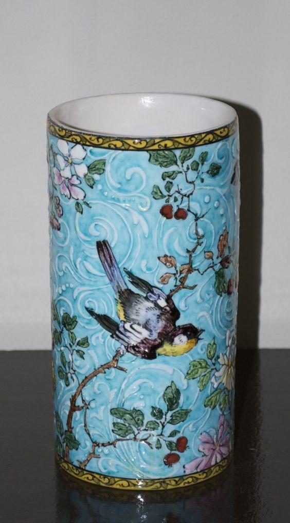 Edmond Lachenal, Parus Major blue vase