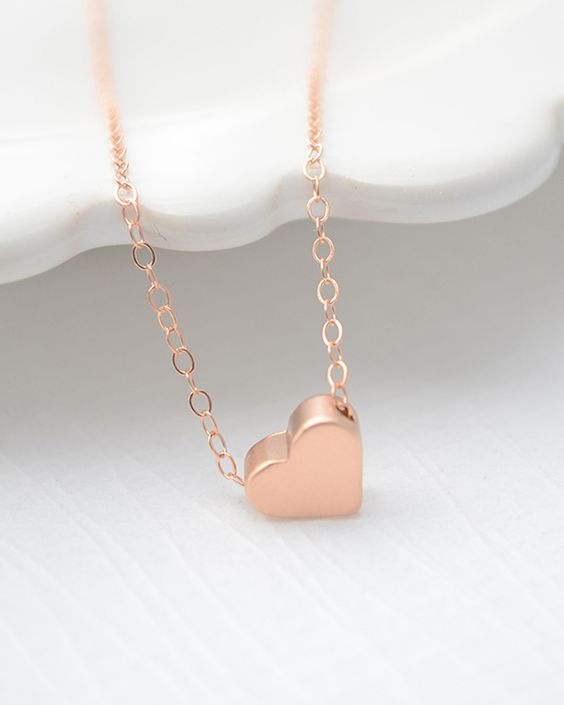 Rose Gold Heart Necklace <3