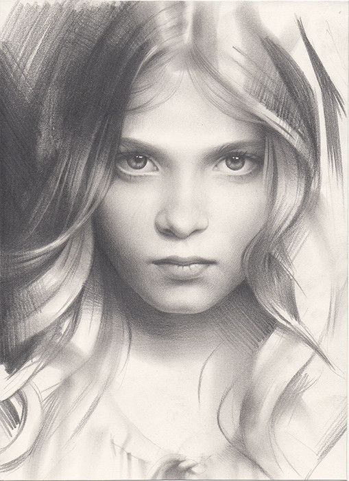 Portrait of a girl amazing sketchbook art by andrey for Amazing drawings of girls