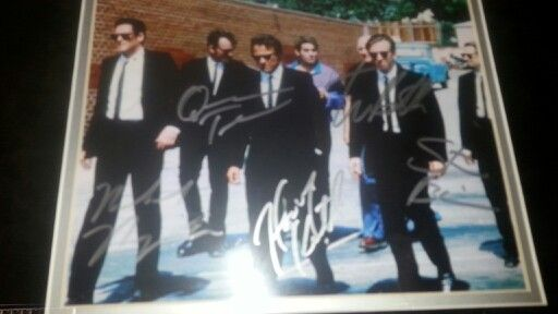 Reservior Dogs Autographed print
