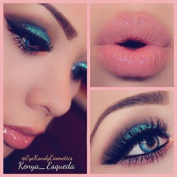 Visual step-by-step eye makeup