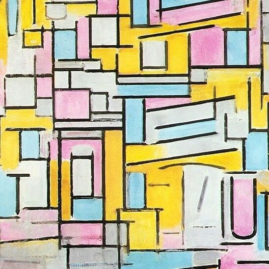 Composition with Oval in Color Planes II Piet Mondrian, 1914