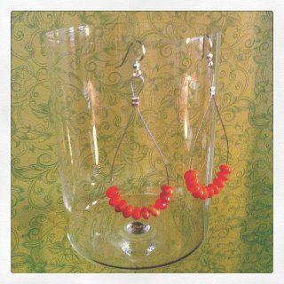 Surgical Steel  Glass beaded earrings 16.00