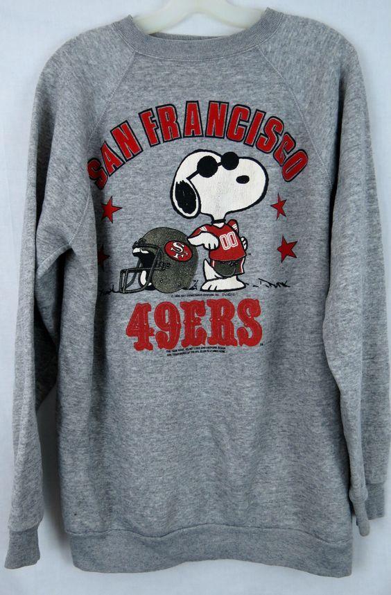 VINTAGE SAN FRANCISCO 49ers SWEATSHIRT SNOOPY JOE COOL NFL VINTAGE ...
