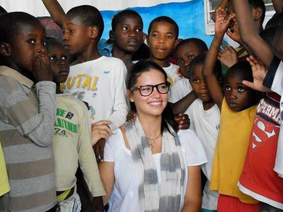 con niños de haiti