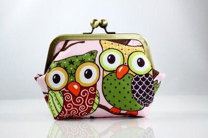 hoot hoot change purse