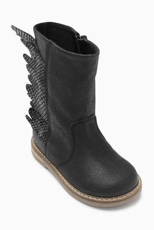 Kaufen Sie Stiefel mit Flügeldesign, Schwarz (Jüngere Mädchen) heute online bei Next: Deutschland