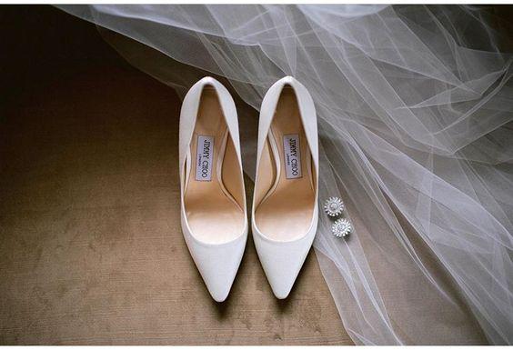 escarpin blanc pour mariée