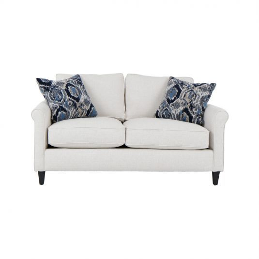 Off White Loveseat Loveseat With Pillows Jerome S Fabric Sofa White Loveseat Furniture