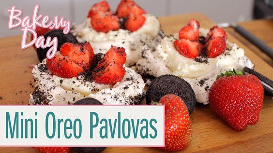 Mini Oreo Pavlovas   BakeMyDay
