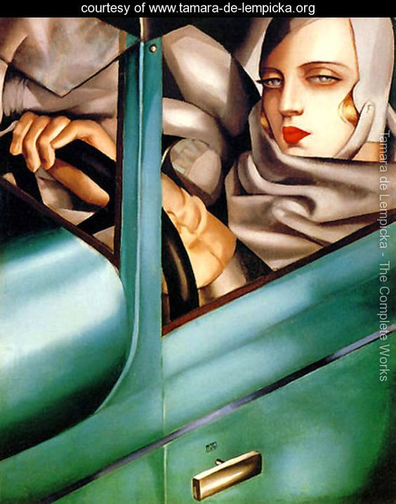 One of three of my favourite artists. Tamara de Lempicka's work epitomises early 20th Century glamour & decadence. Two things any self respecting batty like myself are instantly drawn to... Even her Madgesty is a fan, featuring a collection of her work on her Blonde Ambition Tour & in the Vogue video. I studied her works many moons ago, and this painting 'Autoportrait' has made a lasting impressions on my brain. Those eyes burn right into you...
