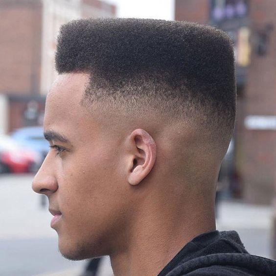 low fade haircut black man