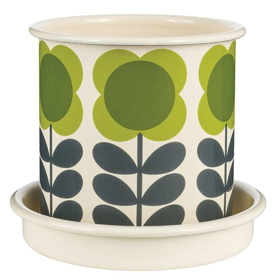 ORLA+KIELY+Small+Plant+Pot+in+Green