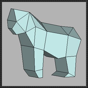 Animal Paper Model - Simple Gorilla Free Template Download - http://www.papercraftsquare.com/animal-paper-model-simple-gorilla-free-template-download.html