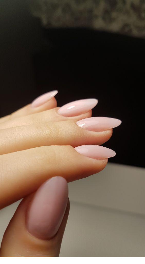 Simple Pink Nails Lovely Pink Nails Oval Nails Short Acrylic Nails