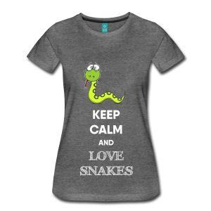KEEP CALM AND SNAKE - Frauen Premium T-Shirt