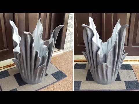 Tutorial Membuat Pot Bunga Dari Handuk Kain Bekas Youtube Pot Bunga Kerajinan Beton Handuk