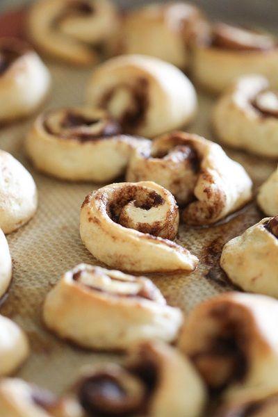 Itty Bitty Cinnamon Roll Bites {Picky Palate}