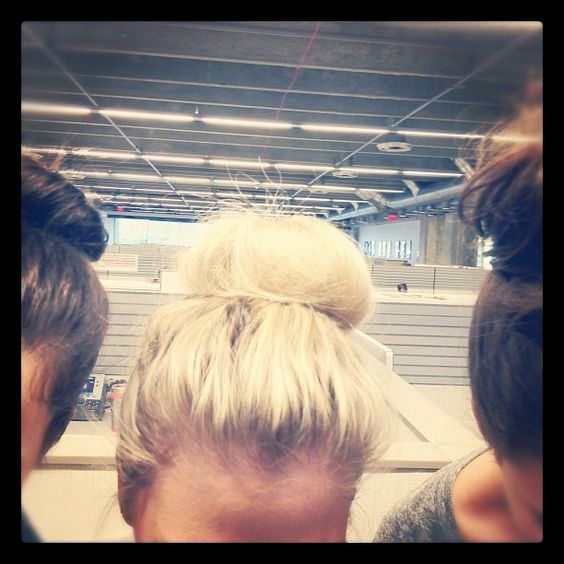 The top-knot seems to be the trend in our office today. #fossil #hair #office