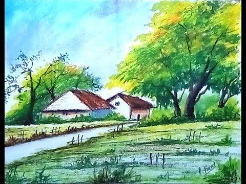 Landscape Drawing Landscape Painting Landscape Art Easy Drawing Easy Landscape Paintings Landscape Paintings Watercolor Art Landscape