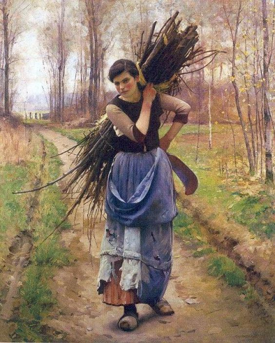 THE WOODCUTTER'S DAUGHTER, BY CHARLES SPRAGUE PEARCE